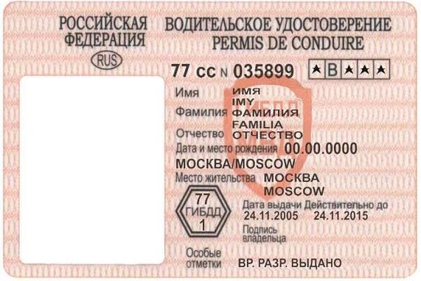 водительское удостоверение для оформления кредита