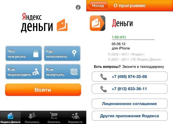 погашение посредством электронного кошелька Яндекс.Деньги